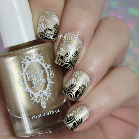 Golden Stamping Polish