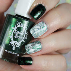 Metallic Green Stamping Polish