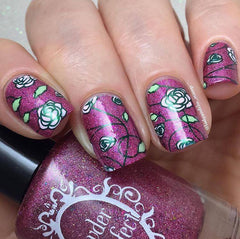 Floral Stamping Plate 01 - XL
