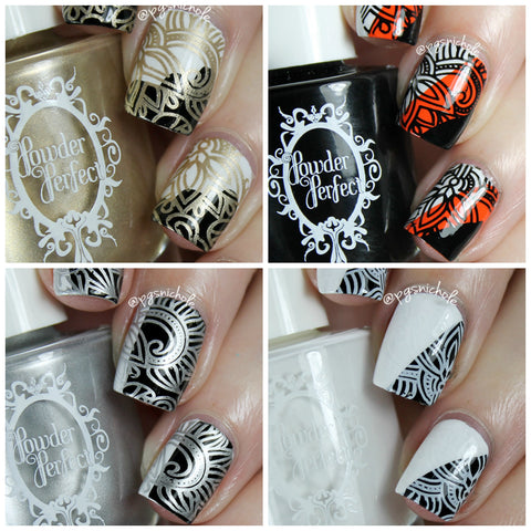Stamping Essentials Quad - White, Black, Golden & Silver