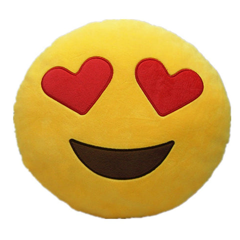 Emoji Pillow - Heart Eye Plush Toy Cushion