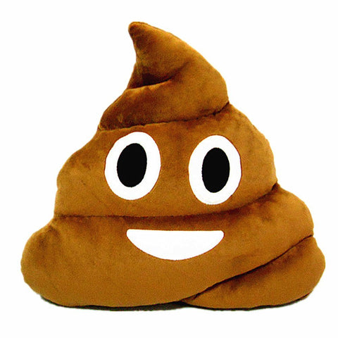 Emoji Pillow - Poop plush toy cushion (Round eyes)