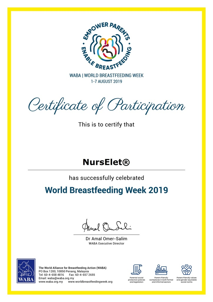 Certificate Of Participation Wbw2019 From World Alliance For