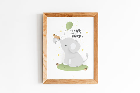 ENJOY THE LITTLE THINGS - Nursery Wall Art-- NursElet®