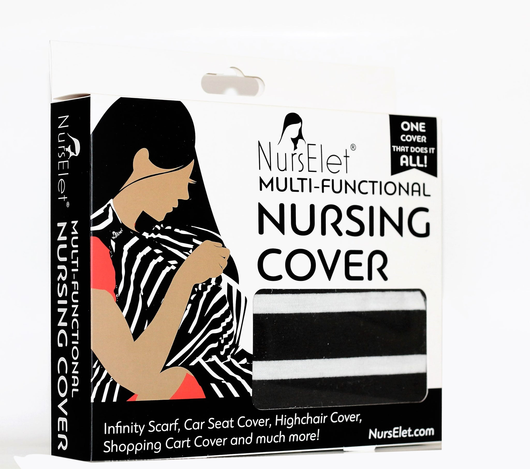 MILKY STRIPES NursElet® Cover-Scarf- NursElet®