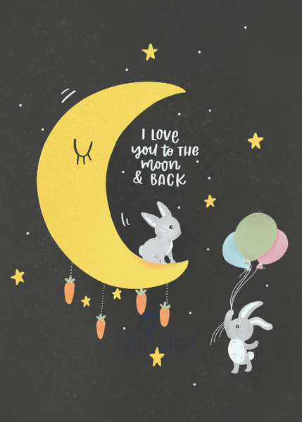 I LOVE YOU TO THE MOON AND BACK - Nursery Wall Art-- NursElet®