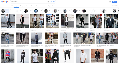 STREET WEAR GOOGLE SEARCH RESULTS