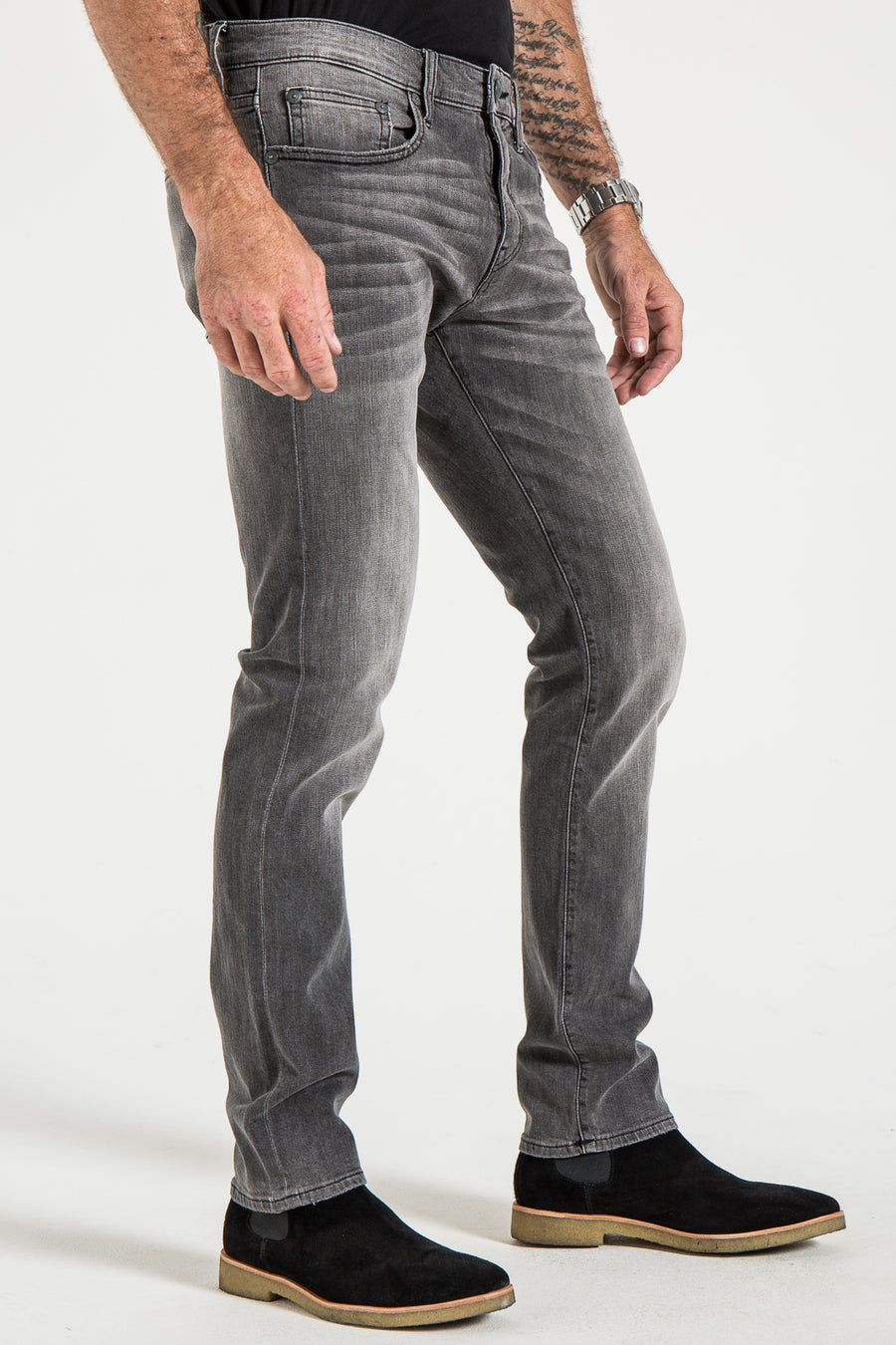 BARFLY SLIM IN DESERT GRAY DENIM