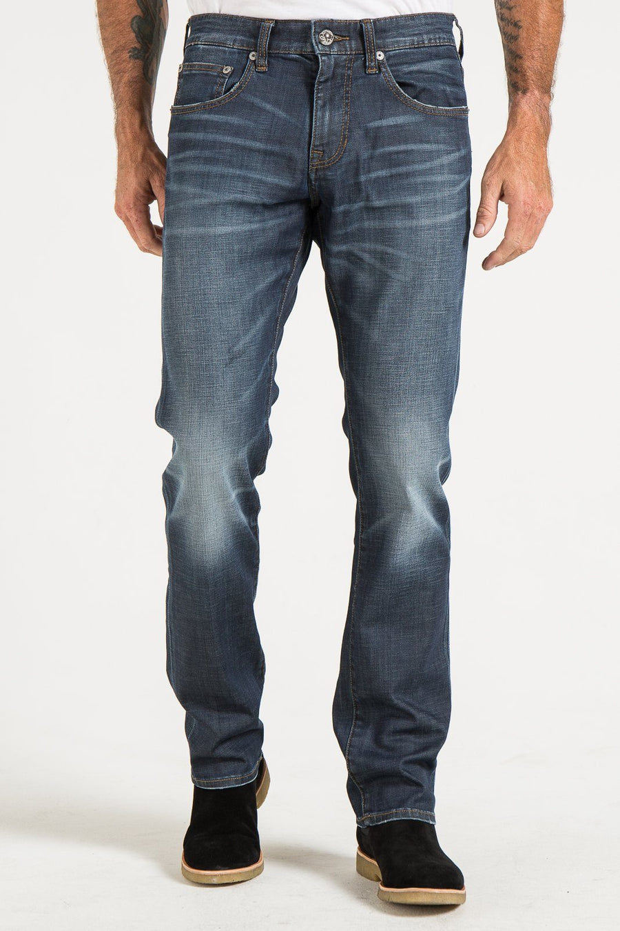 BARFLY SLIM IN GARDINER WASHED INDIGO DENIM