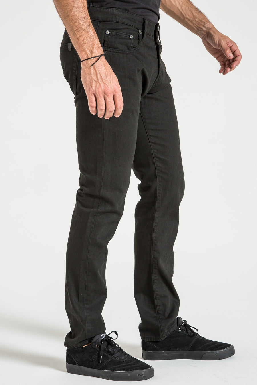 BARFLY SLIM IN BLACK TWILL