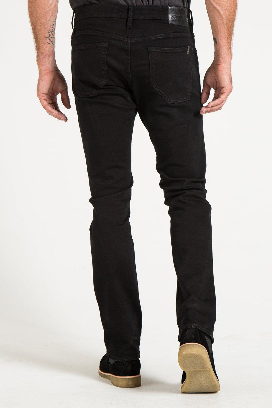 BARFLY SLIM IN BLACK OVERDYED DENIM