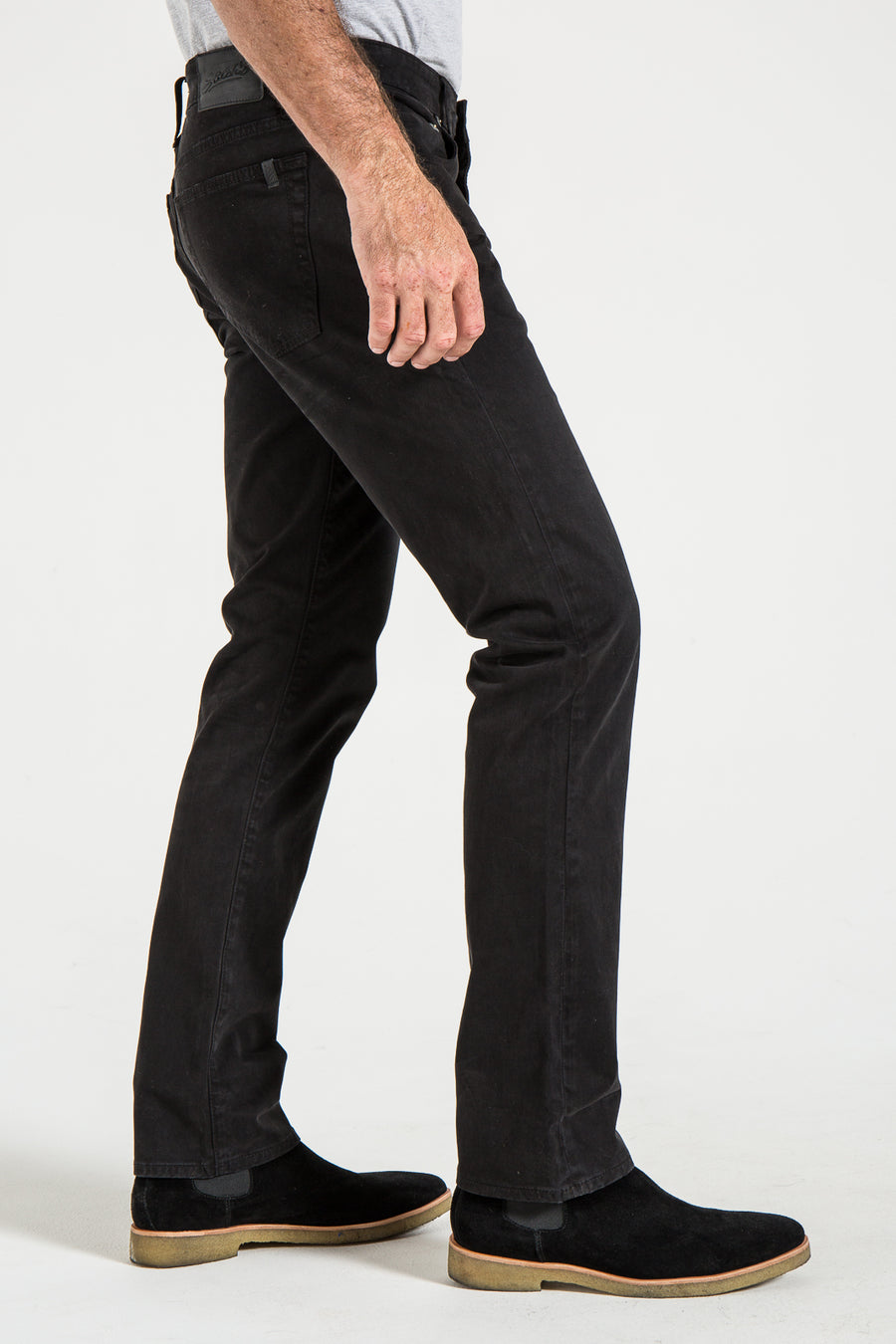 BARFLY SLIM IN BLACK SATEEN TWILL