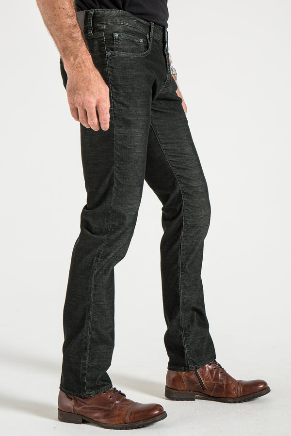 BARFLY SLIM IN DARK MOSS CORDUROY
