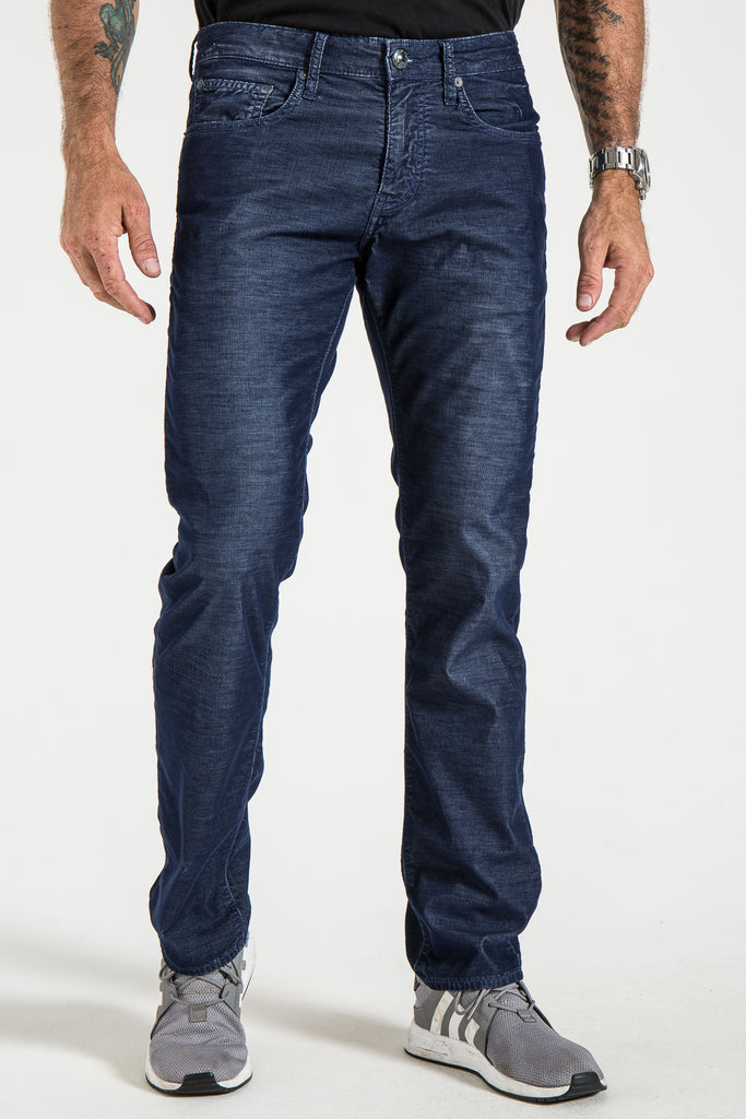BARFLY SLIM CORD PANTS IN DENIM
