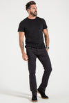 BARFLY SLIM IN BLACK CAVALRY TWILL