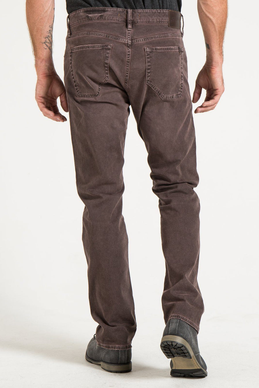 BARFLY SLIM IN EARTH STRETCH TWILL