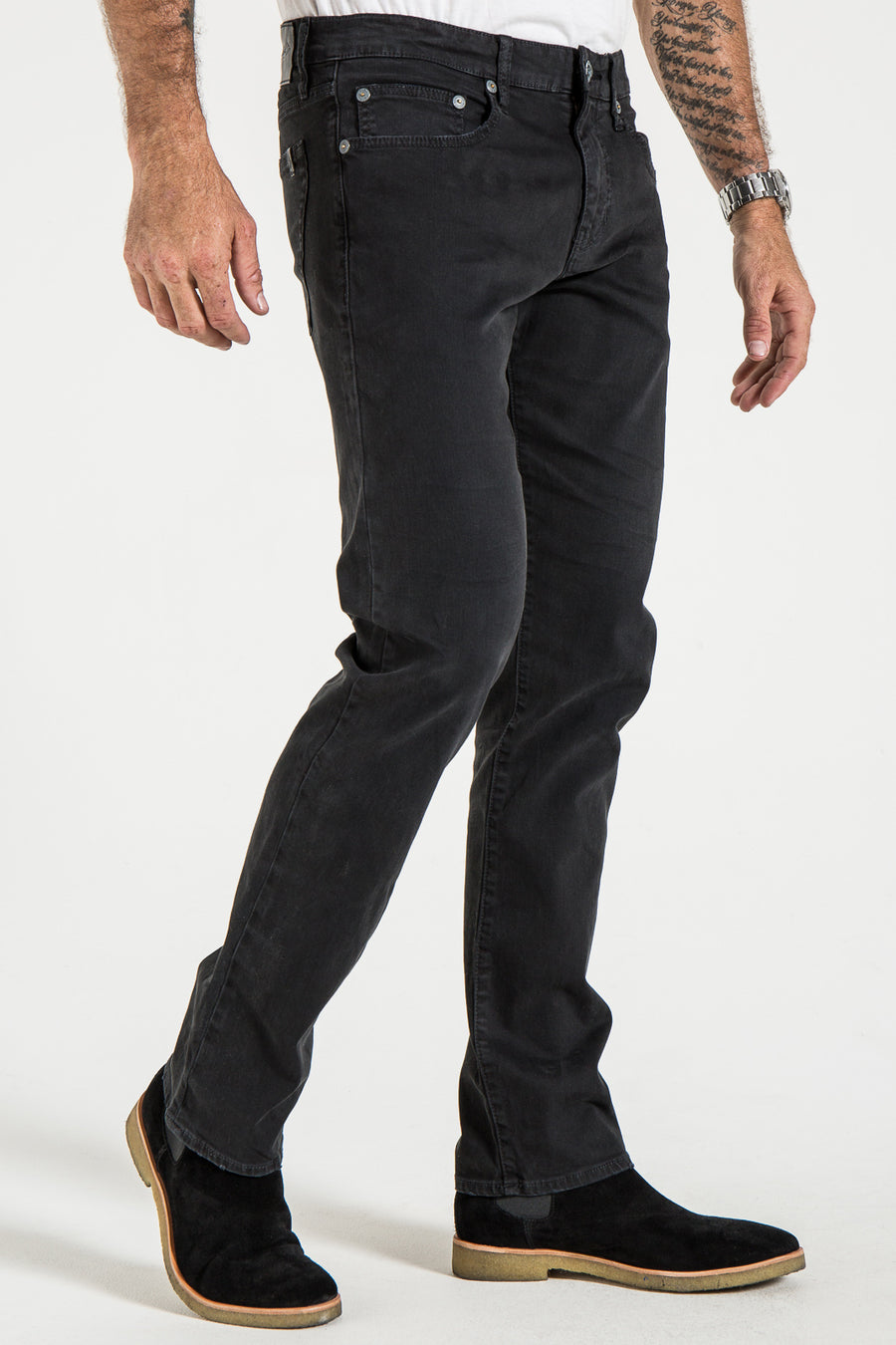 BARFLY SLIM IN BLACK VINTAGE TWILL
