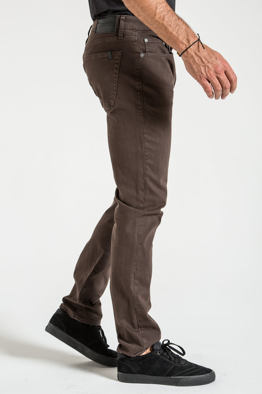 RIGGINS IN DARK BROWN TWILL