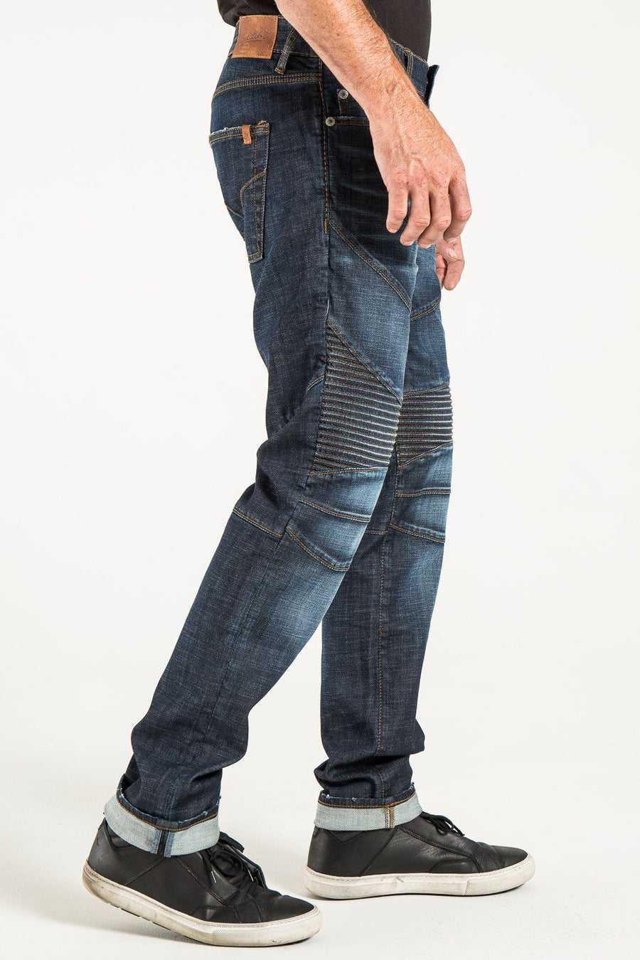MOTO TAPER IN GARDINER DENIM