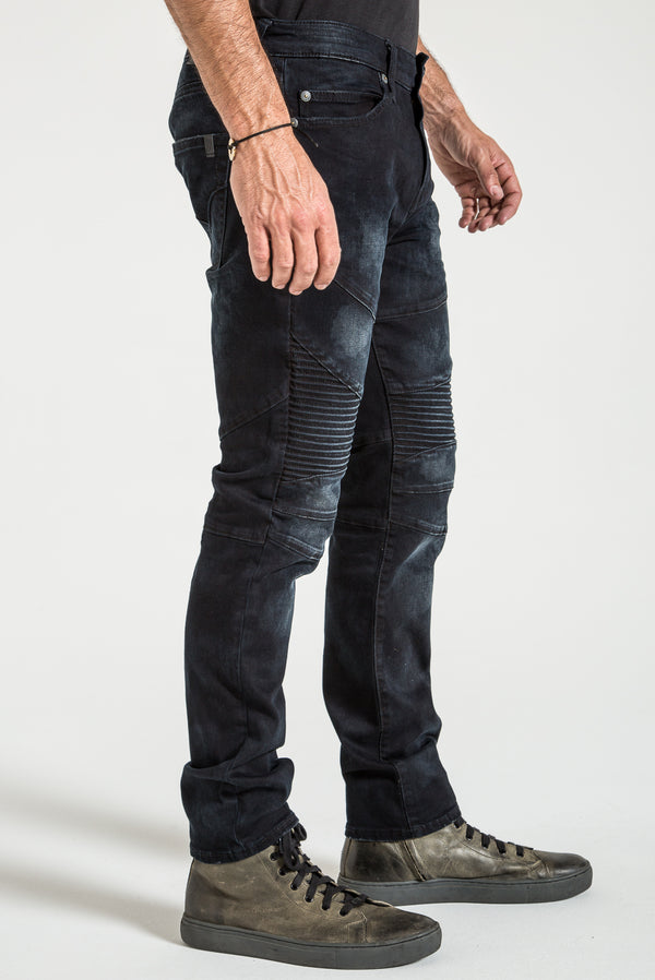 MOTO TAPER IN BRECKENRIDGE DENIM