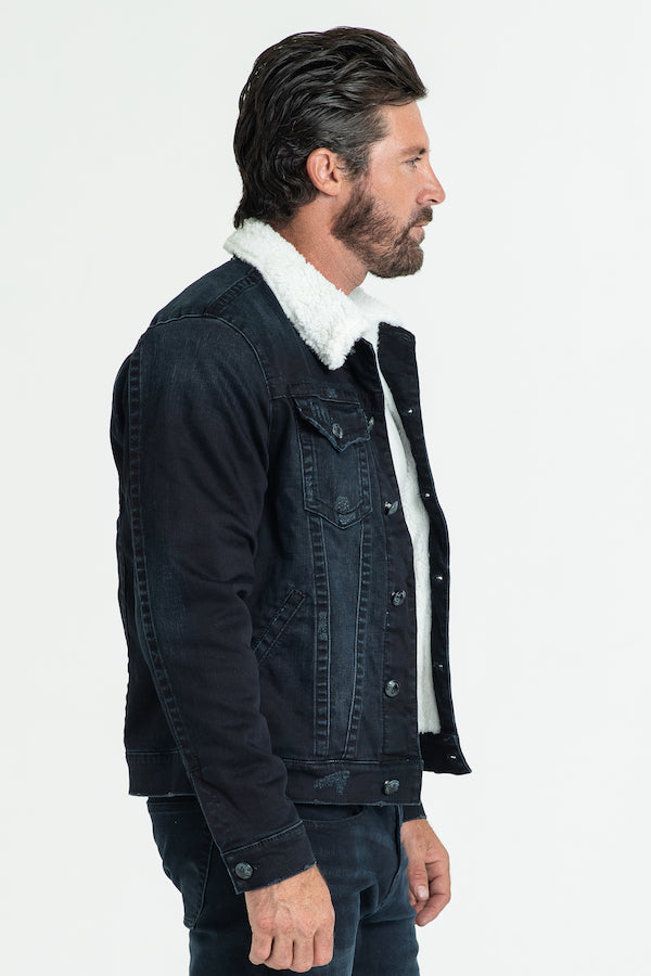 CLASSIC SHERPA DENIM JACKET IMPERIAL BLUE W/ CREAM SHERPA