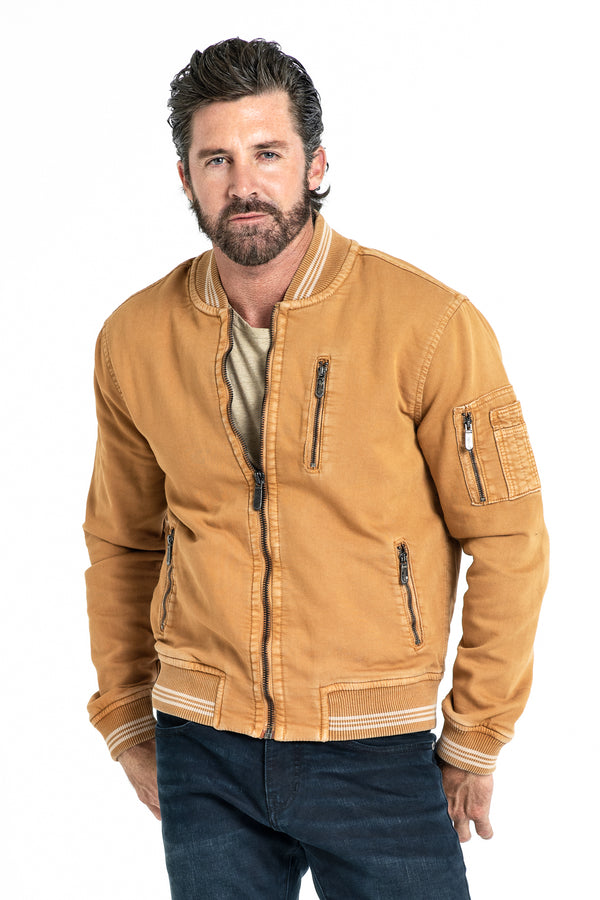BOMBER JACKET IN SPICE