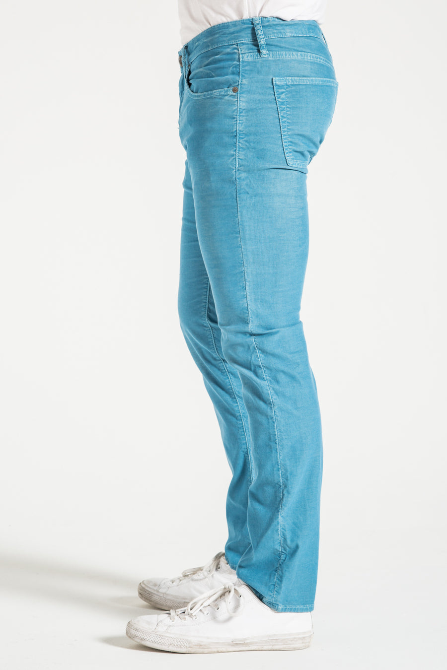 BARFLY SLIM IN TURQUOISE CORDUROY