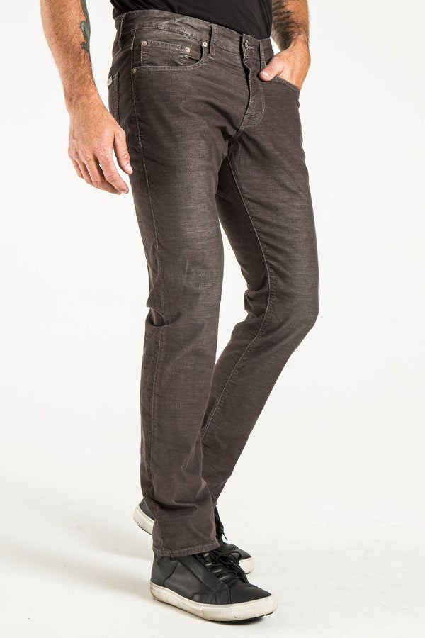 BARFLY SLIM CORD PANTS IN GRAPHITE