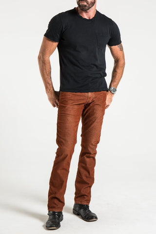 BARFLY SLIM IN RUST WASHED RUSTIC CORDUROY JEANS