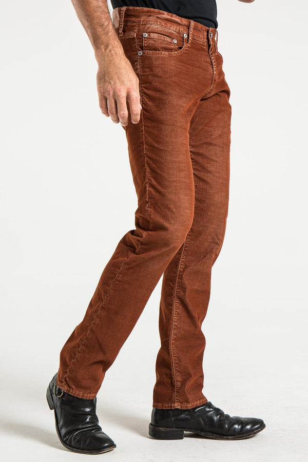 BARFLY SLIM CORD PANTS IN RUST