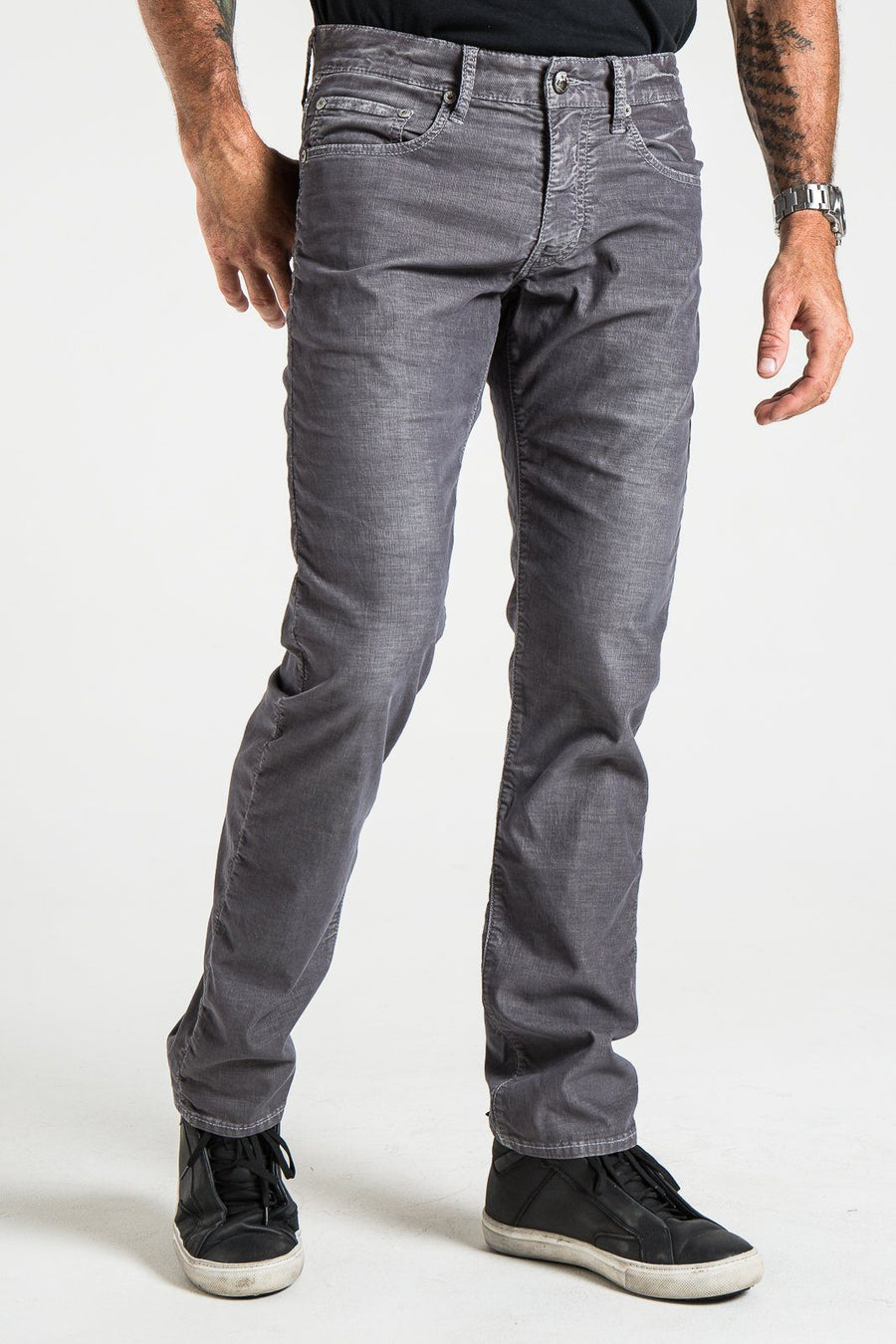 BARFLY SLIM IN STEEL CORDUROY