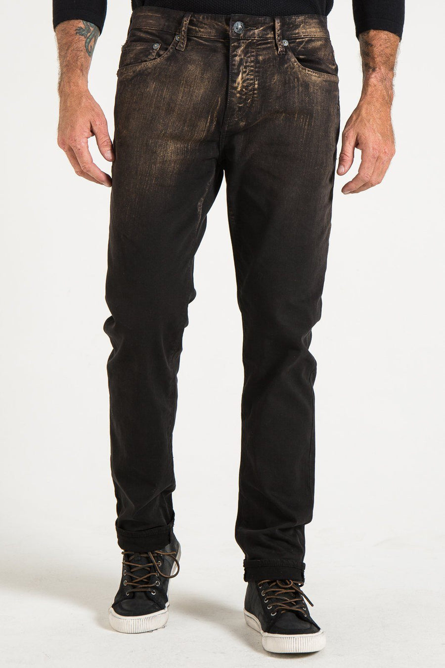DENIM RIGGINS TAPER IN BRONZE