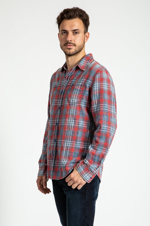 WOVEN PLAID SHIRT IN BENSON