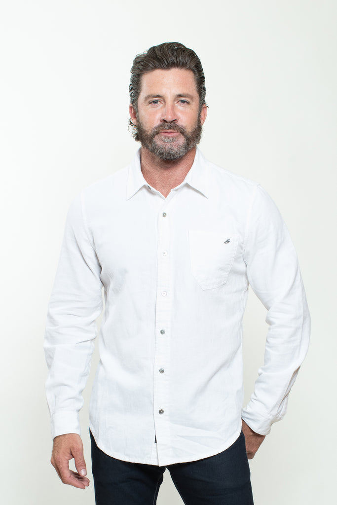 WOVEN SHIRT IN WHITE