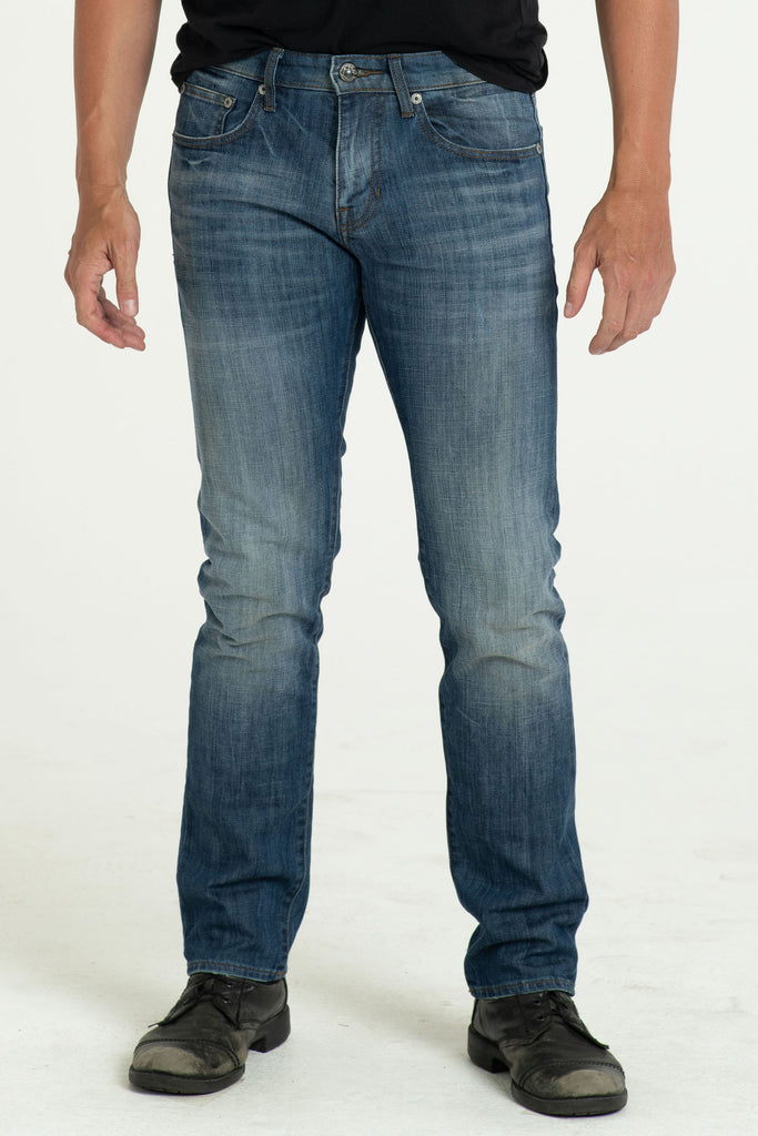 BARFLY SLIM DENIM PANTS IN WASTED BLUES