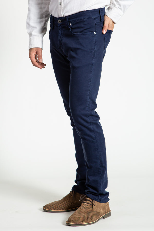 BARFLY SLIM TWILL PANTS IN DRESS BLUES