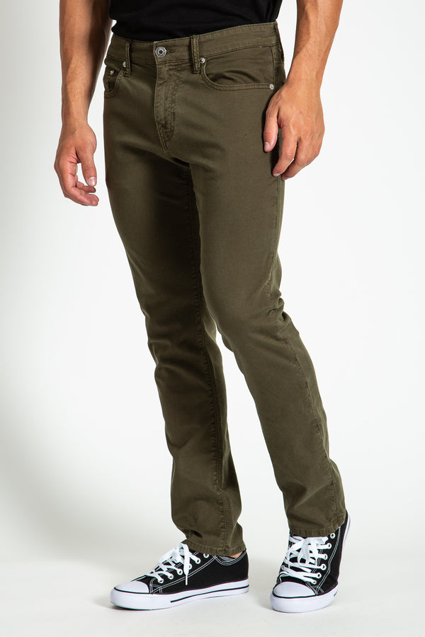 BARFLY SLIM TWILL PANTS IN GRAPE LEAF