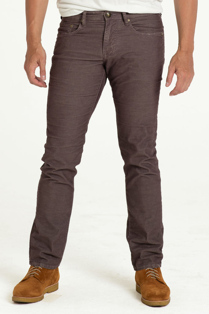 BARFLY SLIM CORD PANTS IN BOURBAN