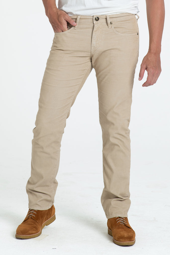 BARFLY SLIM CORD PANTS IN DUNE