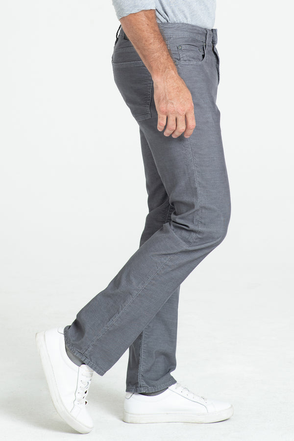 BARFLY SLIM CORD PANTS IN IRON