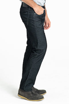 BARFLY SLIM CORD PANTS IN ONXY