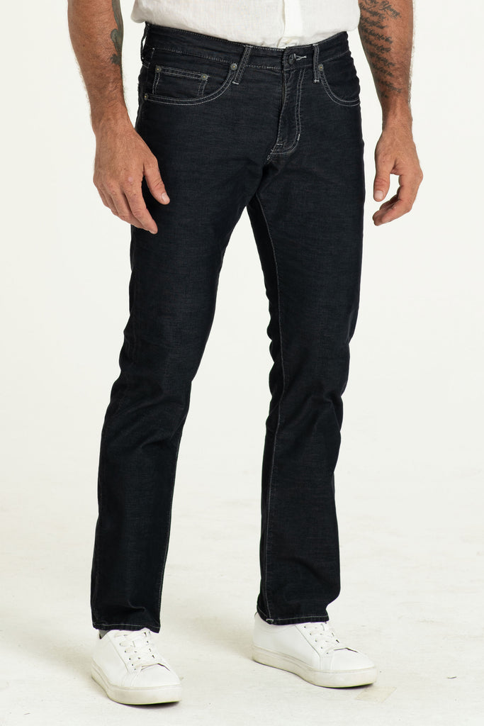 BARFLY SLIM CORD PANTS IN RAVEN