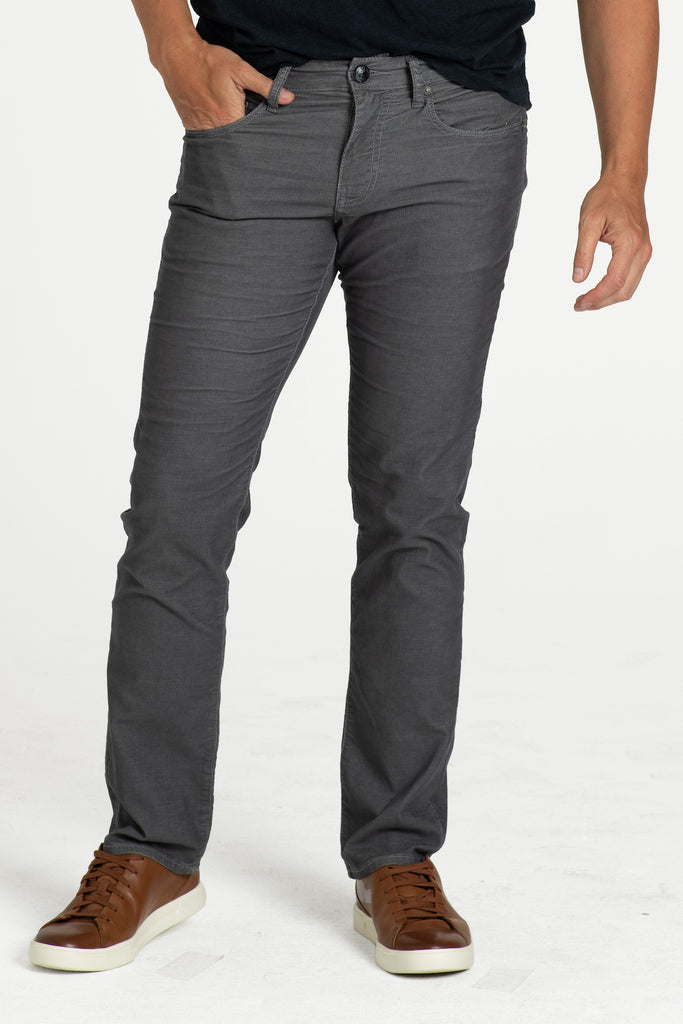 BARFLY SLIM CORD PANTS IN STORM