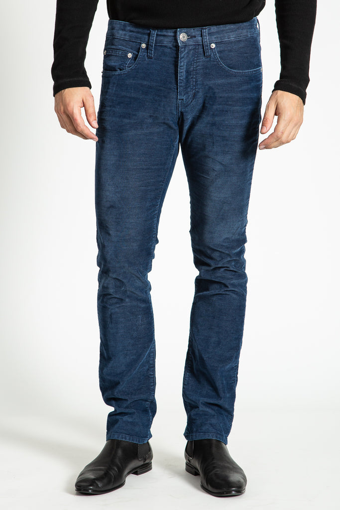 BARFLY SLIM INDIGO CORD PANTS IN LYON