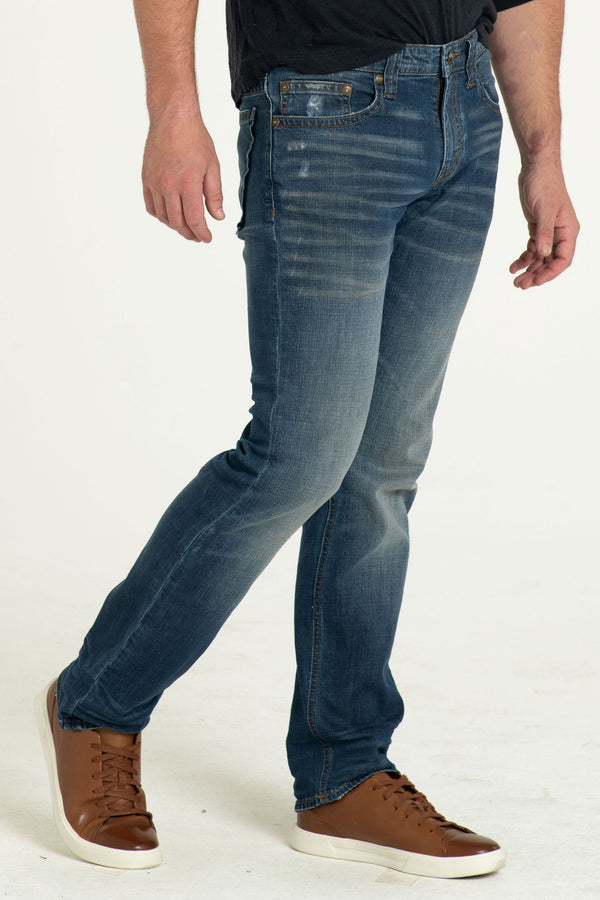 TEXAS STRAIGHT DENIM PANTS IN DESERT DAYZ