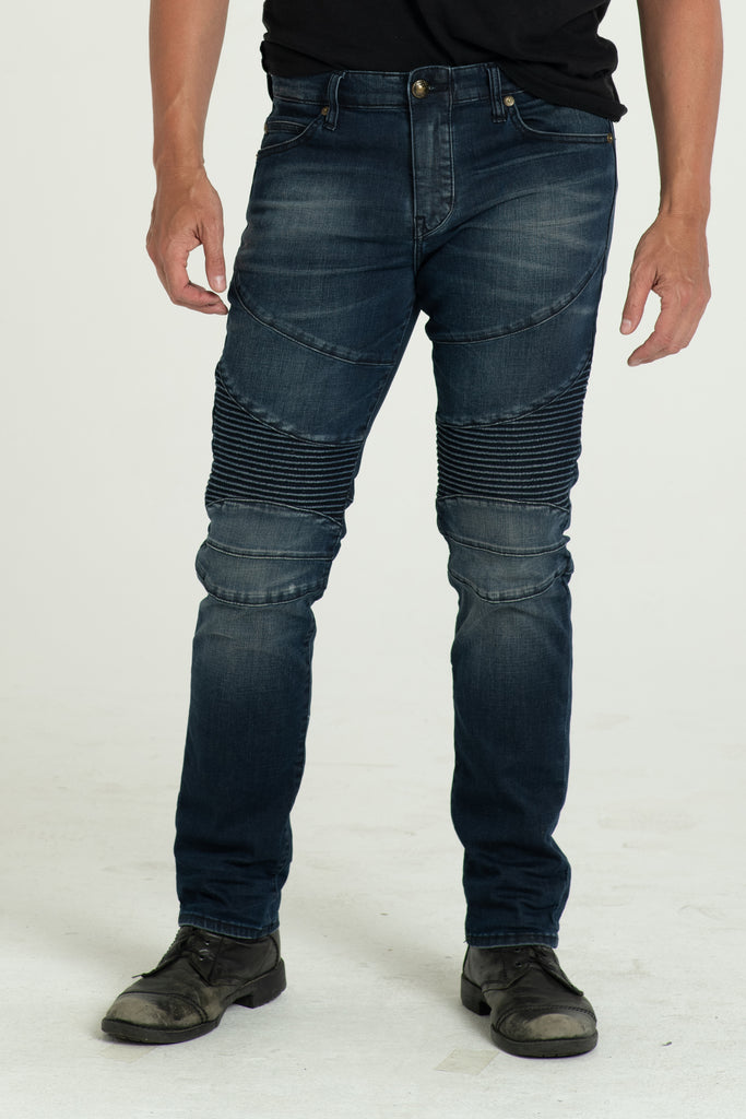 MOTO DENIM PANTS IN DAY TRIP