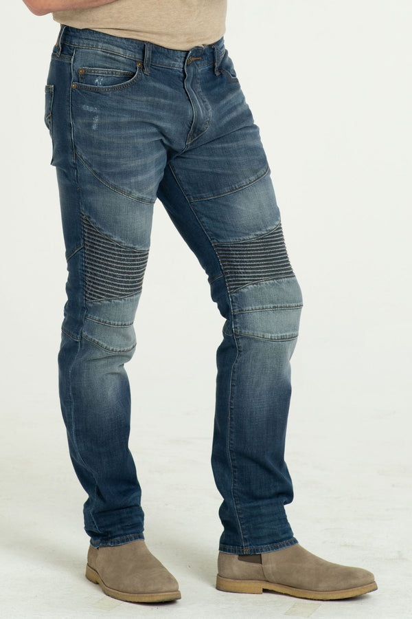 MOTO DENIM PANTS IN DESERT DAYZ
