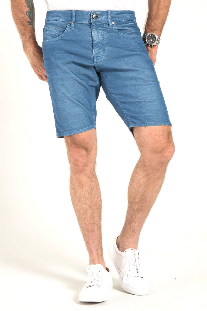 ROLL UP CORD SHORTS IN ATRIUM BLUE