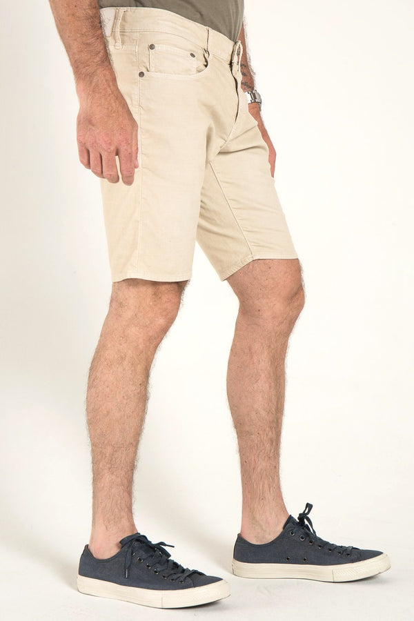 ROLL UP CORD SHORTS IN BONE