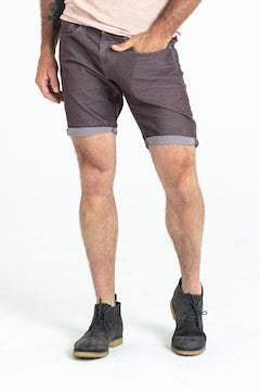 ROLL UP CORD SHORTS IN BOURBAN